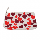 Illustrated hearts pouch